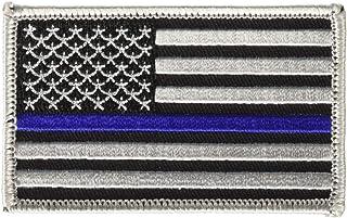 EagleEmblems PM3012 Patch-Pol,Blue Line,USA (3.25'')