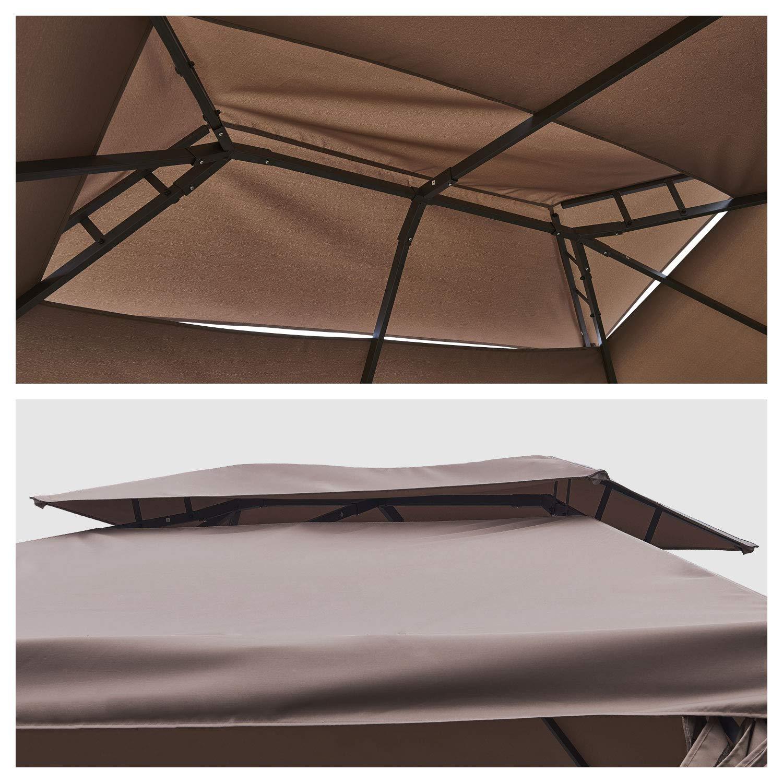 Happy Garden - Cenador autoportante (3 x 4 m, Estructura de Aluminio), Color Gris: Amazon.es: Jardín