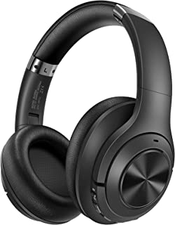 Hybrid Noise Cancelling Headphones, H21 Wireless Bluetooth Headphone with 65H Playtime, Foldable USB Headset Over-Ear, Bui...