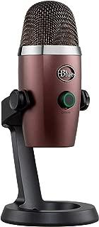 Blue Microphones, Microfono USB a Condensatore Professionale Blue Yeti Nano con Pattern di Pickup Multipli e Monitoraggio senza Latenza per Registrazione e Streaming su PC e Mac, Rosso