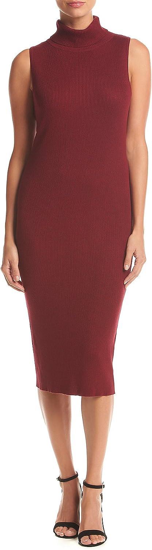 Ronni Nicole Solid Ribbed Midi Sheath Dress