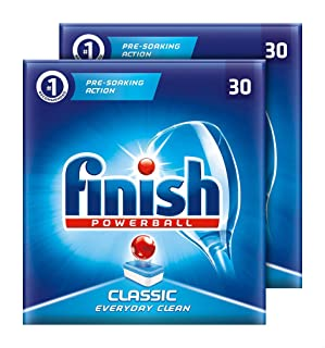 Finish Classic Powerball Dishwasher Tablets, Set of 2 - 60 Pieces