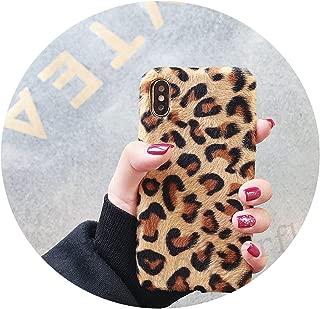 Leopard Print Plush Fur Phone Cases for Huawei P20 Lite Mate 20 10 P20 Pro Honor 8X 7C Pro 10 V10 Soft Case Y9 2019 Nova 3I 3,1,P20