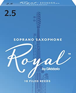 Royal by D`Addario RIB1025 Soprano Sax Reeds, Strength 2.5, 10-pack
