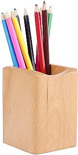 Schneespitze Pot à Crayons Porte-stylos en bois,Porte-Stylo de Boîte de Rangement,Pot à Crayon Vintage pour Les Bureaux, L...
