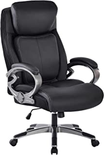 REFICCER High Back Executive Office Chair - Bonded Leather Ergonomic Computer Desk Chair, 360° Movable Lumbar Support, Adj...