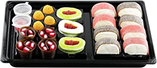 Raindrops Gummy Candy Sushi Bento Box with 21 Pieces - 5 Kinds of Sushi Rolls and Garnishes - Made from Marshmallows, Licorice, Sour Strips, Gummi Bears and Fish - Fun and Unique Candy Gifts