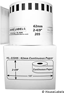 HouseLabels Brother - Compatible DK-2205 Continuous Paper Labels (2-4/9
