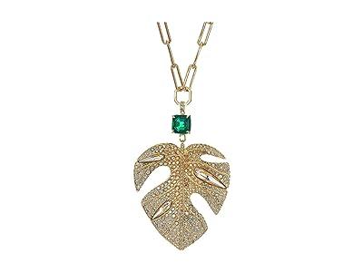 Swarovski Tropical Leaf Pendant Necklace (Light Multi) Necklace