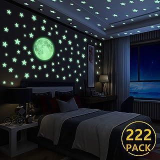Luminoso Pegatinas de Pared Yosemy Luna y Estrellas,