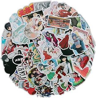 50Pcs Animated Cartoon Inuyasha Stickers Waterproof Vinyl Kikyou Stickers for Water Bottle Luggage Bike Car Decals (Inuyasha)