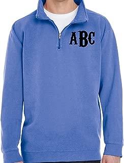 Free Monogram (You can Chose not to Monogram) Adult 9.5 oz. Quarter-Zip Sweatshirt
