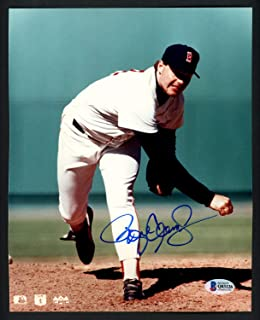 Roger Clemens Autographed 8x10 Photo Boston Red Sox Beckett BAS Q03126