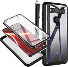 chenlingy TCL 10 5G UW Case with Built-in Screen Protector Crystal Clear Full Body Shockproof Bumper Rugged Hybrid Protect...