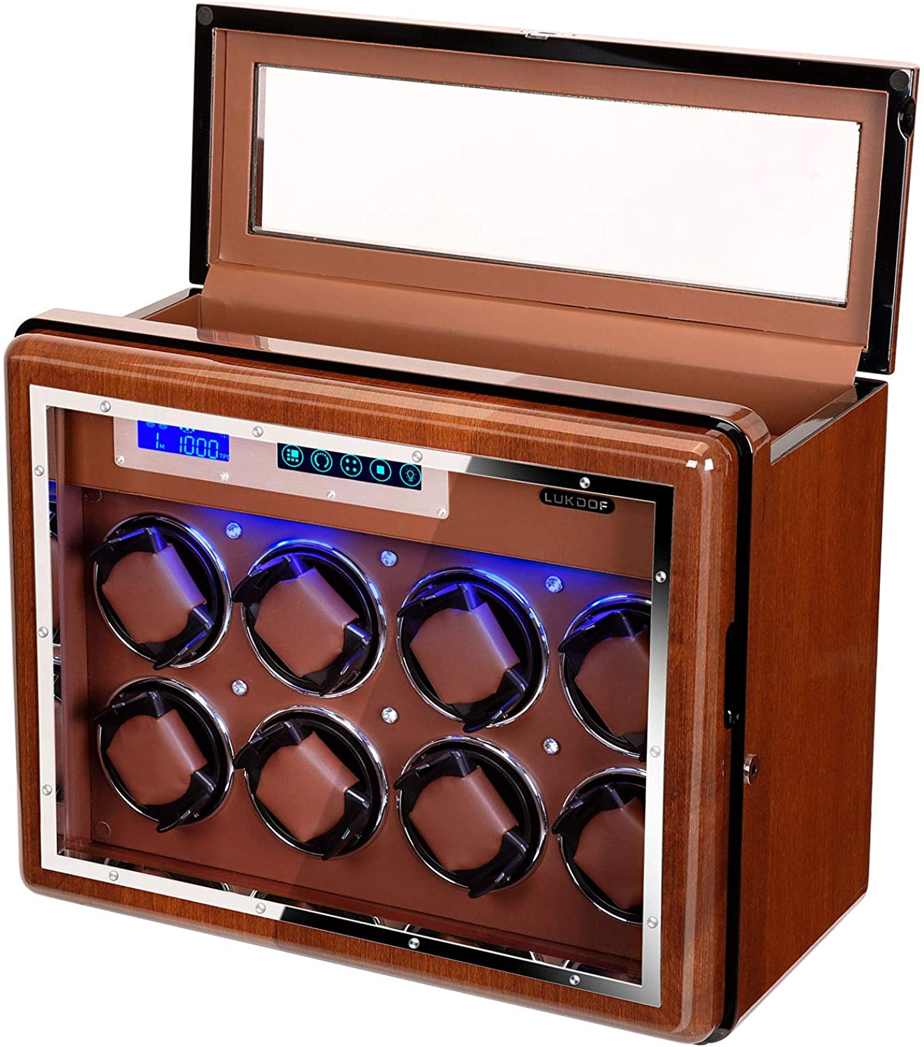 Cheap super special price Automatic Watch Winder Luxury for wit Walnut Rolex Miami Mall
