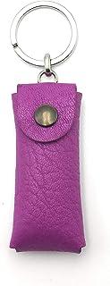 franartPiel - Llavero funda USB pendrive hecho en Piel Ubrique - Alta Calidad (Rosa)