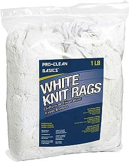 Pro-Clean Basics White T-Shirt Cloth Rags: 1 lb. Bag (A99305)