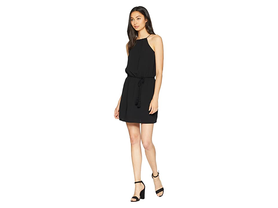 Jack by BB Dakota Aurora Borealis Textured Woven Dress with Cord Belt (Black) Women