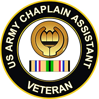 Military Vet Shop US Army Chaplain Assistant Gulf War Veteran Window Bumper Sticker Decal 3.8