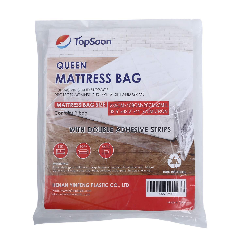 Topsoon Queen Size - Bolsa de colchón resistente con tiras ...