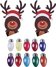 OSALADI Conjunto de magnéticos para carro 12pcs lâmpada colorida de Natal