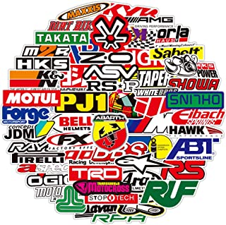 Auto Racing Brand Logo Stickers[100PCS], Waterproof Vinyl Sticker for Laptop Bumper RAC Car Truck Motorcycles Refitted Vehicle Automobile Enthusiast Club Bike Water Bottles Storage Tool Box Trunk