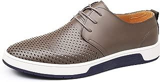 New Men's Shoes Leather Holes Design Summer Breathable Shoes Men Flats