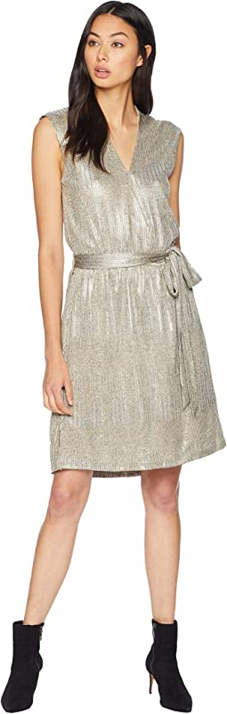 Olivia Metallic Mini Dress