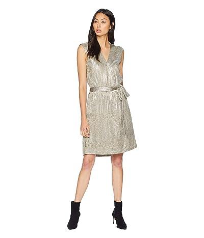 Bishop + Young Olivia Metallic Mini Dress (Metallic) Women