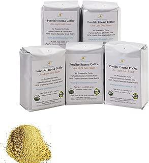 PureLife Enema Coffee- 5 Lbs. - Pre-Ground Green Beans - Organic Ultra Light