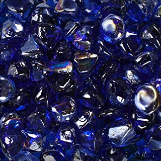 Celestial Fire Glass Diamonds - Cobalt Blue Luster | 10 Pound Jar