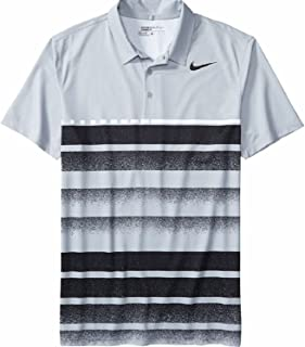 Men's Icon Printed Golf Polo Wolf Grey Small