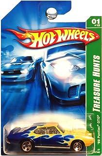 Hot Wheels 2007 Treasure Hunt 1969 Pontiac GTO Blue Green with Flames