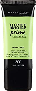 Maybelline New York Face Studio Master Prime Primer, Blur + Redness Control, 1 Fl Oz (1 Count)