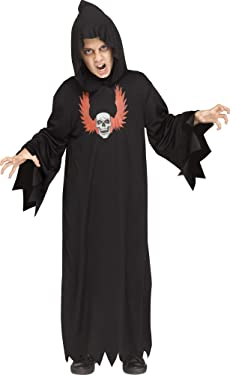 Fun World Ghoul Robe Black Costume, Large 12 - 14, Multicolor