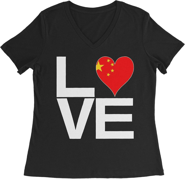 HARD EDGE DESIGN Women's Love Block China Heart T-Shirt