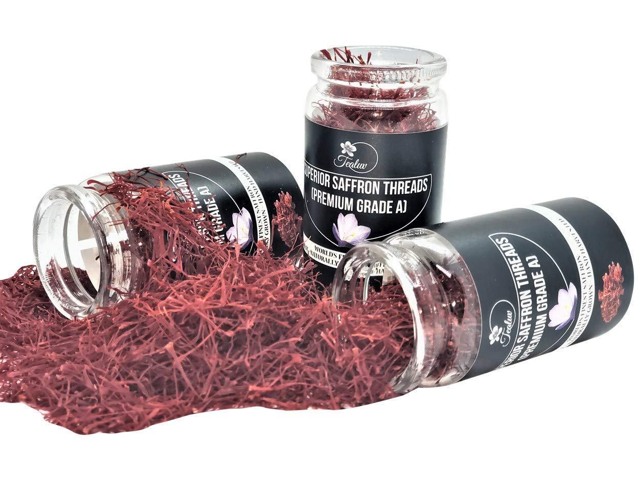 7-Grams - TEALUV Saffron Threads Finest All Premium Red Saf Pure Ranking Miami Mall TOP4