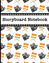 Storyboard Notebook: Filmmaker 16:9 Notebook With Camera & Director's Chair Design To Sketch And Write Out Scenes With Easy-To-Use Template