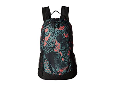 Nike 13 L Printed Run Race Day Backpack (Juniper Fog/Bright Crimson/Black/Bright Crimson) Backpack Bags