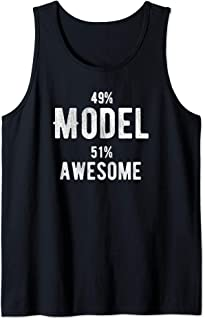 49% Model 51% Awesome - Job Title Tank Top