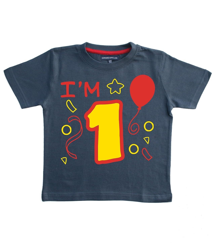 ギャップ落胆したボトルネックエドワード?Sinclair Baby Boys ' I ' m 1?1st誕生日Tシャツ