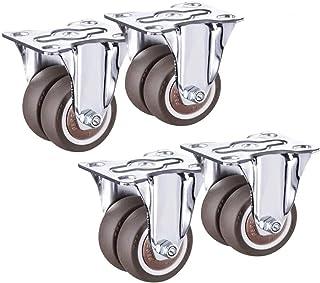 LYQQQQ 4 Stks Medium Rubber Dubbele Rij Wiel Oriëntatie Meubelwielen, Trolley Flatbed Truck Industry Universele Castor Wie...