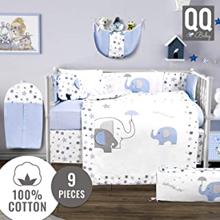 aqua boy crib bedding