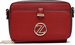 Zeneve London Ella Crossbody Bag For Women - Red