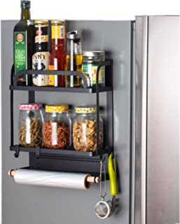 LWBIGHOME Magnetic Fridge Spice Rack Organizer Fridge Side Racks Refrigerator Spice Shelf Storage Spices Holder Jars Kitch...