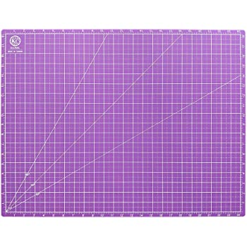 KC GLOBAL A2 (25 x 19 in.) Professional Grade Self-Healing Cutting Mat (Purple) - Odor-Free, Double-Sided, Eco-Friendly, Non-Slip, Premium Desk Mat for DIY, Crafting, Sewing, Quilting and Art Projects
