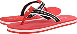 Tomato Red Nappa/Black/White Grosgrain