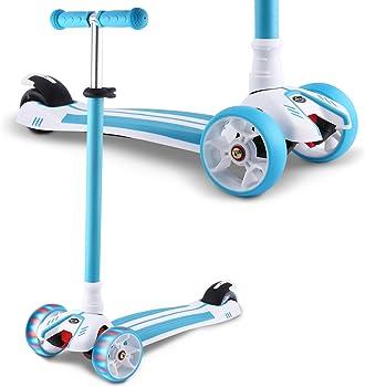 Hikole Adjustable 3 Wheel Kids Scooter