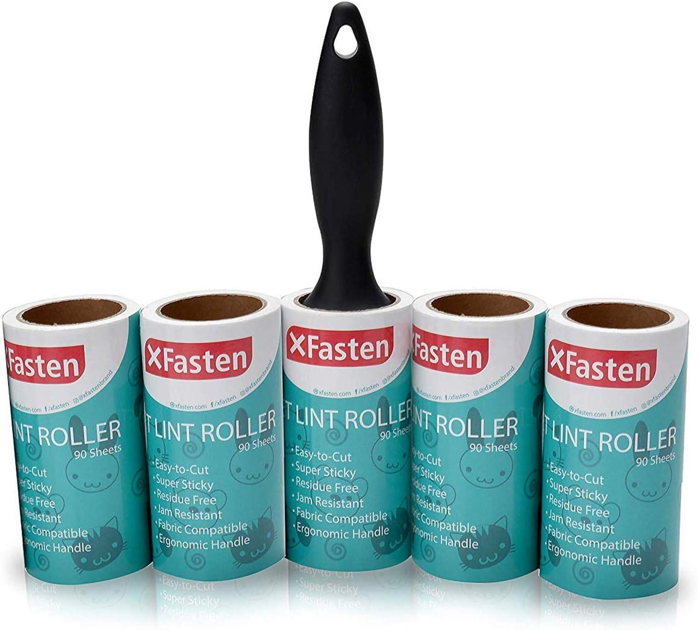 XFasten Pet Lint Roller; 1 Weekly update Roller + Ea Mesa Mall Sheets Refill 90 Rolls 5