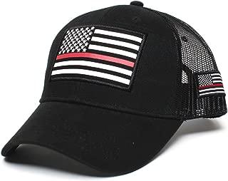 Posse Comitatus Thin RED Line USA Flag Unisex Adult One-Size Cap Hat Black